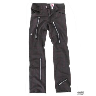 pantalon pour hommes BLACK PISTOL - Two Leg Pants Tartan - Grey