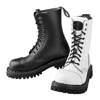 Bottes STEADY´S - 10 trous - Noir et blanc - STE/10_black/white