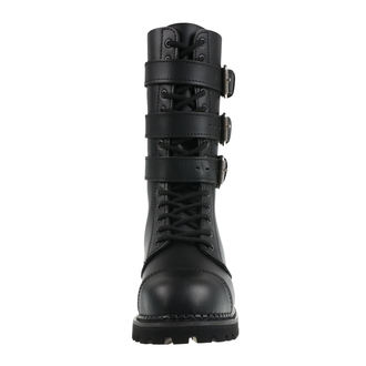 bottes en cuir unisexe - Phantom Boots with Buckle - BRANDIT, BRANDIT