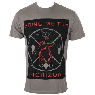 t-shirt hommes Bring Me The Horizon - HEARTS & SYMBOLS - GRY - BRAVADO, BRAVADO, Bring Me The Horizon