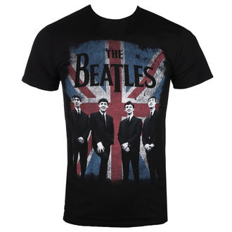 tee-shirt métal pour hommes Beatles - UNION JACK DIST BLK - BRAVADO, BRAVADO, Beatles
