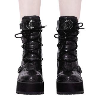 Bottes pour femmes KILLSTAR - Broom Rider Boots - NOIR PAILLETTES, KILLSTAR