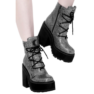 Bottes KILLSTAR pour femmes - Broom Rider Boots - ARGENT PAILLETTES, KILLSTAR