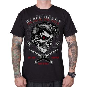tee-shirt street pour hommes - DENY BOY - BLACK HEART, BLACK HEART