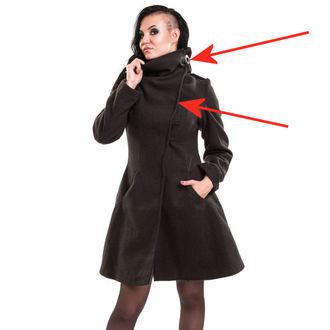 manteau pour femmes VIXXSIN - Necromancer - Noir - ENDOMMAGÉ, VIXXSIN