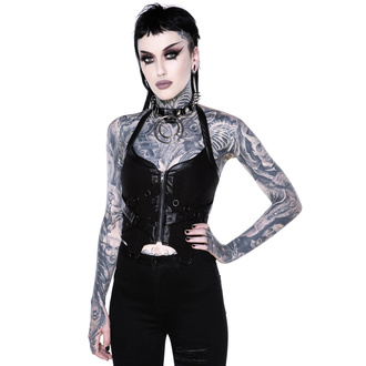 Top (corset) KILLSTAR pour femmes - Cadaver Zip Top - NOIR - KSRA002132