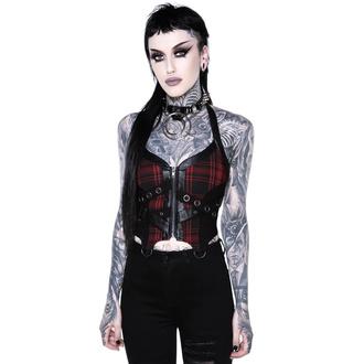 Top (corset) pour femmes KILLSTAR - Cadaver Zip Top - TARTAN, KILLSTAR
