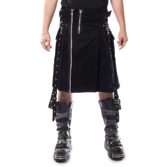 Kilt pour homme CHEMICAL BLACK - CARL - NOIR, CHEMICAL BLACK