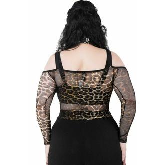 T-shirt (Top) à manches longues pour femmes KILLSTAR - Catitude Fishnet - LEO, KILLSTAR