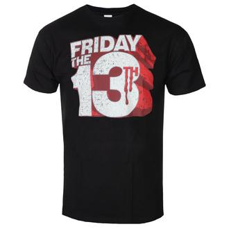 T-shirt pour hommes Friday The 13th - Block Logo - Noir - HYBRIS, HYBRIS, Friday the 13th
