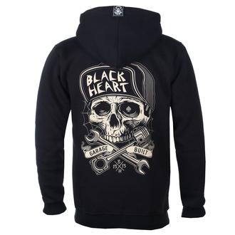 sweat-shirt avec capuche pour hommes - GARAGE BUILT - BLACK HEART - 003-0097-BLK
