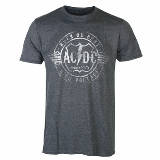 T-shirt pour homme AC/DC - Rock or Bust - HEATHER - ROCK OFF, ROCK OFF, AC-DC