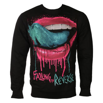 sweat-shirt sans capuche pour hommes Falling In Reverse - LIPS - PLASTIC HEAD, PLASTIC HEAD, Falling In Reverse