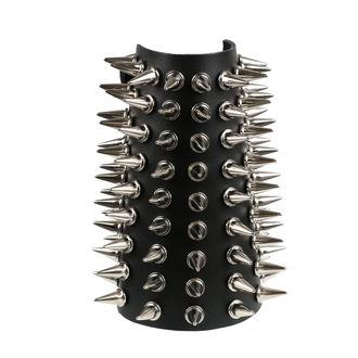 Bracelet 9 rangées de pointes, BLACK & METAL