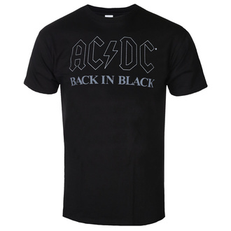 T-shirt pour hommes AC DC - Back In Black - BL - ROCK OFF, ROCK OFF, AC-DC