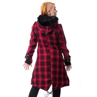 Manteau pour femmes POIZEN INDUSTRIES - DARE - RED CHECK, POIZEN INDUSTRIES