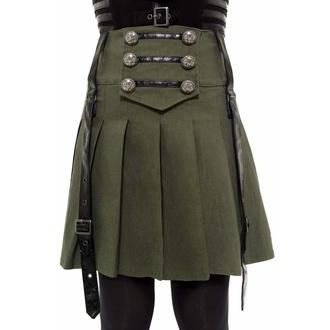 Jupe pour femmes KILLSTAR - Dark Academy - KAKI, KILLSTAR