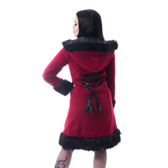 Manteau pour femmes POIZEN INDUSTRIES - DARK MASE - ROUGE, POIZEN INDUSTRIES