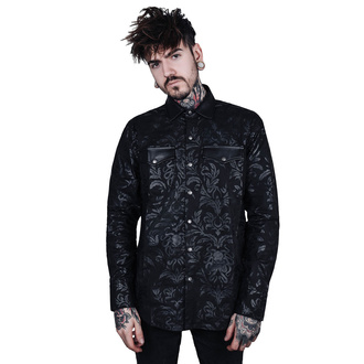 Chemise homme KILLSTAR - Dark Ocean Button - NOIR, KILLSTAR