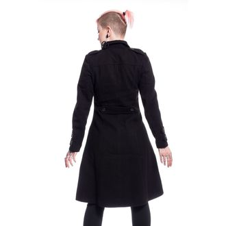Manteau femmes POIZEN INDUSTRIES - DARK ROMANCE - NOIR, POIZEN INDUSTRIES