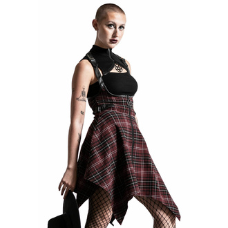 Jupe pour femmes KILLSTAR - Dazes & Confused Suspender - BLOOD TARTAN, KILLSTAR