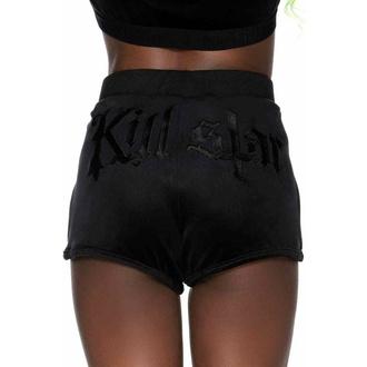 Shorts pour femmes KILLSTAR - Dee-Lux Velvet - NOIR, KILLSTAR