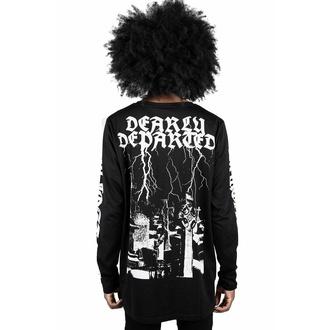 t-shirt unisexe manche longue KILLSTAR - Departed - Noir, KILLSTAR