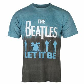 t-shirt pour homme Beatles - Let it Be Split BLUE Dip-Dye - ROCK OFF, ROCK OFF, Beatles
