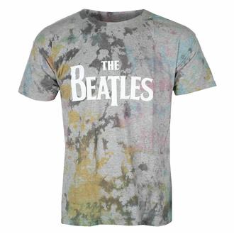 t-shirt pour homme Beatles - Drop T Logo GREY Dip-Dye - ROCK OFF, ROCK OFF, Beatles