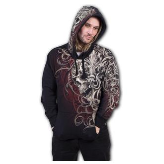 sweat-shirt avec capuche pour hommes - SKULL SHOULDER WRAP - SPIRAL - W033M459