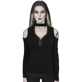 T-shirt femmes avec manches longues KILLSTAR - Downward Spiral Épaules froides Top, KILLSTAR