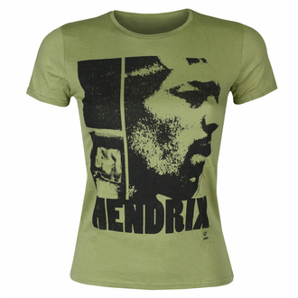 T-shirt pour femmes Jimi Hendrix - Let me live Scoop - KHAKI - ROCK OFF, ROCK OFF, Jimi Hendrix