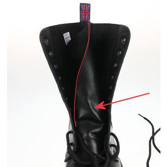 bottes NEVERMIND - 10 œillet - Noir Polido - ENDOMMAGÉ, NEVERMIND