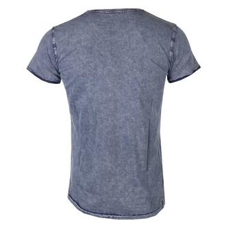 T-shirt pour hommes Queen - Classic Crest - DENIM - ROCK OFF, ROCK OFF, Queen