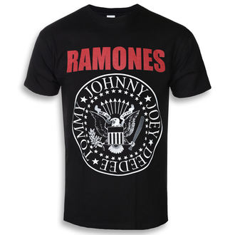 tee-shirt métal pour hommes Ramones - RED TEXT SEAL LOGO - PLASTIC HEAD, PLASTIC HEAD, Ramones