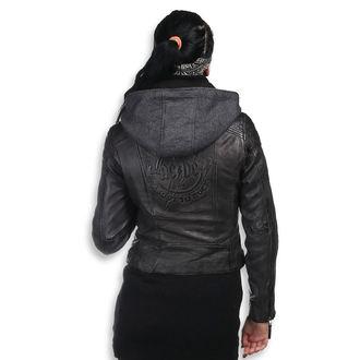 veste en cuir pour femmes AC-DC - Antracite - NNM