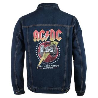Veste pour hommes AC DC - About To Rock - DENIM - ROCK OFF, ROCK OFF, AC-DC