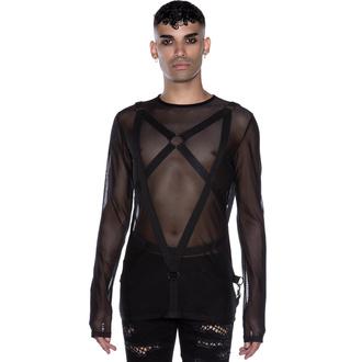 T-shirt à manches longues pour hommes KILLSTAR - Elysium Fishnet, KILLSTAR