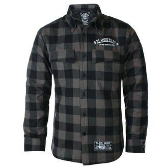 Chemise hommes BLACK HEART - DUKE LINED - GRIS, BLACK HEART