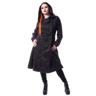 Manteau pour femmes POIZEN INDUSTRIES - ETERNAL ROSE - NOIR, POIZEN INDUSTRIES