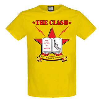 t-shirt pour homme THE CLASH - KNOW YOUR RIGHTS - YEL LOW RAVEN - AMPLIFIED, AMPLIFIED, Clash