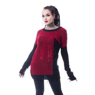 Pull pour femme HEARTLESS - FRACTION - NOIR / ROUGE, HEARTLESS