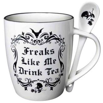 Mug avec cuillère ALCHEMY GOTHIC - Freaks Like Me Drink Tea, ALCHEMY GOTHIC