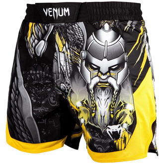 Pour des hommes boxeur short (short de combat) Venum - Viking 2.0 - Noir / Jaune, VENUM