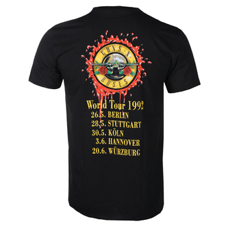 T-shirt pour hommes Guns N' Roses - UYI World Tour - BL - ROCK OFF, ROCK OFF, Guns N' Roses