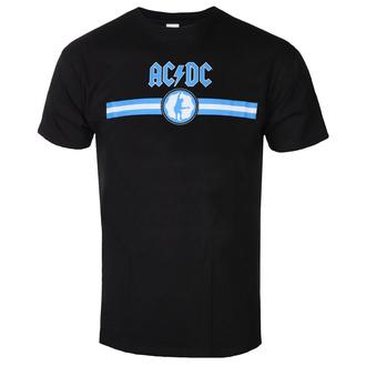 T-shirt pour hommes AC DC - Blue Logo & Stripe - BL - ROCK OFF, ROCK OFF, AC-DC