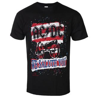 T-shirt pour hommes AC DC - We Salute You Stripe - BL, ROCK OFF, AC-DC