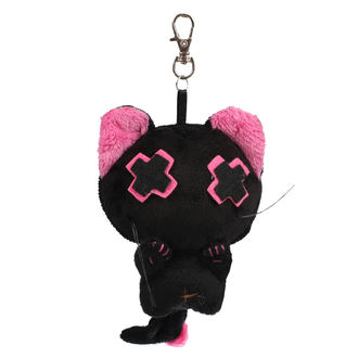 Porte-clés peluche Dead Cute - BABY VANITY - NOIR / ROSE
