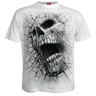 t-shirt pour homme SPIRAL - CRACKING UP - blanc, SPIRAL