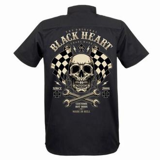 Chemise pour hommes BLACK HEART - STARTER - NOIR, BLACK HEART